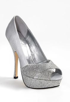 High Heel Open Toe Sparkle Pump from Camille La Vie and Group USA