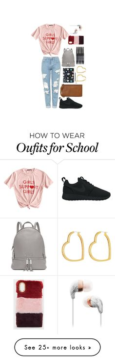 """-School-"" by yvonne-eve on Polyvore featuring NIKE, Michael Kors, Nikki Strange, CHARLES & KEITH and Henri Bendel"