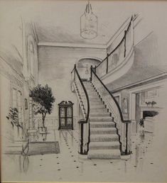 Interior Architecture Drawing, Architecture Drawing Sketchbooks, Architecture Concept Drawings, Interior Design Sketches, Cool Art Drawings, Pencil Art Drawings, Art Drawings Sketches, Amazing Drawings, Pencil Sketches Landscape