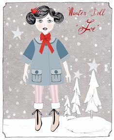 Luier Stijl Memoirs: winter papieren pop - Joe