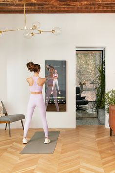 Squats. Lunges. Deadlifts. Swings. There's a little something for everyone with MIRROR's Kettlebell classes. Home Gym Decor, At Home Gym, Lunges, Squats, Kettlebell Class, Home Gym Mirrors, Swings, New Room, Cool Gadgets
