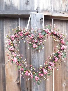 Heart Rose Wreath On Fence
