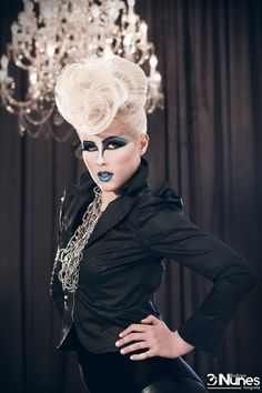 Editorial hair...not crazy about make up