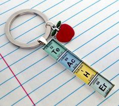 Elements of a Teacher Key Chain
