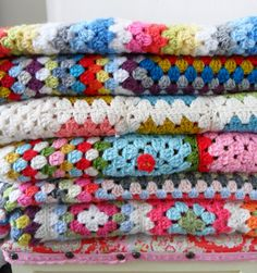 crochet blankets--In the 70's and 80's everybody had them...still have 'em.