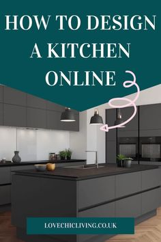 Easy, simple online kitchen design tips using a kitchen design planner. Whether you want a modern, luxury or contemporary kitchen, it's easy to design a new one with an online virtual planner service. Great ideas for a classic or minimalist look in a large, or tiny galley kitchen shape #lovechicliving
