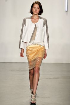 @Helmut_Lang  #catwalk #MBFWNY #SS_2013 #trends #geometry #in