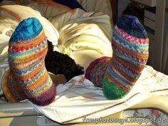 Augenblick mal ....: Sockenkunst auf Trombosestrumpf