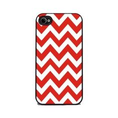 Cherry Pie Chevron - iPhone 4 and 4s Silicone Rubber Cover, Cell Phone Case #Indiana #IU #Hoosiers