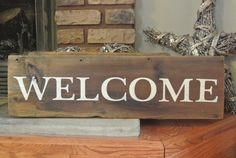 Welcome Rustic Barn Board Sign  Country Decor  by KACountryDecor  GET YOURS HERE!  https://www.etsy.com/listing/206370566/welcome-rustic-barn-board-sign-country?ref=listing-shop-header-2