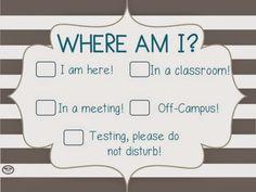 SLP Signs for your classroom/office door!