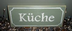 KUCHE Kitchen German Rustic Wood Sign CHOOSE COLOR
