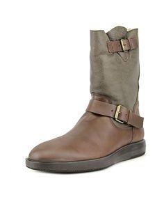 HOGAN Hogan Zeppa 193 Stivale Montone Men  Round Toe Leather Brown Winter Boot'. #hogan #shoes #boots