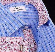 Mens Stylish Luxury Blue Dress Shirt Formal Business B2G GQ Paisley Boss Fashion   eBay