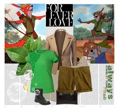 """Robin Hood"" by bluetidegirl ❤ liked on Polyvore featuring Disney, Tylie Malibu, J.TOMSON, J.Crew, Jennifer Fisher, Oris and Tom Ford"
