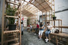 "Orrizontale has constructed ""Casa do Quarteirão,"" a permanent wooden installation developed for Walk&Talk 2016, an annual arts festival in the..."