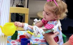 Amazing!  Robotic assistive technology made with 3D printer. Allows toddler to raise arms for the first time.