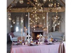 Décorations tables de Noël réception de charme 1