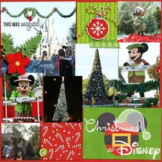 Disney Christmas Project Life scrapbooking layout by becca1976 using Project Mouse: Christmas by Britt-ish Designs & Sahlin Studio