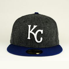 033a59d6d3477 Kansas City Royals Gray Flannel   Royal Hat Gray Under 59fifty Grey  Flannel