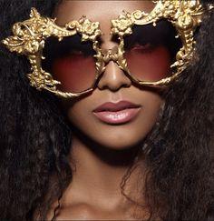 ad2c9619e43d Mercura Baroque Big Golden Rose Sunglasses editorial photo  Angelika  Buettner Make Up  Paul Venoit