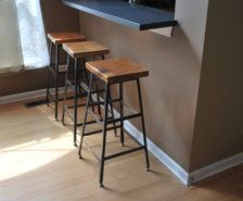 Reclaimed wood and steel industrial stool (Seating in Furniture - Etsy Home & Living - Page 12)