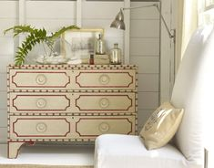 Big pine key chest to be converted into vanity.  This size works too.  We would go with a different finish combo.