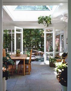 Outdoor Living Room & Lagoon - tropical - porch - dc metro - Anthony Wilder Design/Build, Inc.