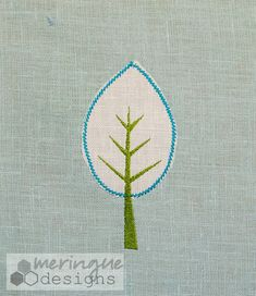 Modern Ash Tree - Machine Embroidery Applique Design GREAT for beginners Modern Embroidery, Embroidery Art, Embroidery Patterns, Learn Embroidery, Tree Of Life Artwork, Ash Tree, Machine Embroidery Applique, Embroidery For Beginners, Applique Designs