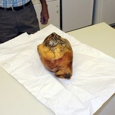 Image of a ham being wrapped