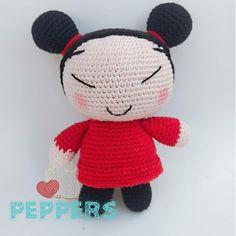 Una hermosa Pucca hecha en algodón. Patrón propio Hello Kitty, Fictional Characters, Art, Sweetie Belle, Amigurumi, Art Background, Kunst, Gcse Art, Art Education Resources