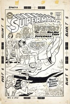 Superman October Cover art by Curt Swan and George Klein. S is for Superman Superman Comic Books, Comic Book Heroes, Comic Books Art, Book Art, Superman Family, What Is The Secret, Comic Page, Man Of Steel, A Comics