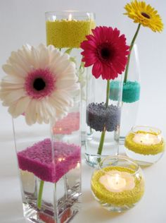 Simple and colorful wedding decoration ideas