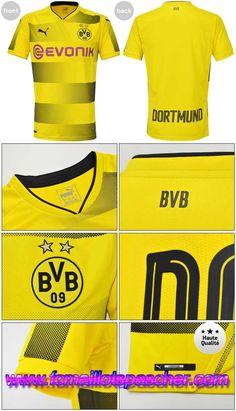 Faux Maillot Foot 2017 2018 Dortmund BVB Domicile Thailande