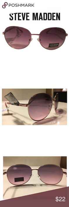 NEW! Steve Madden Pretty in Pink Sunglasses These sunglasses from Steve Madden have a rose tint and are fabulous! Details: 65 mm x 15 mm x 150 mm (eye-bridge-temple), frame color: pink, lens color: rose, frame material: metal, 100% UV protection, NEW with tags. Steve Madden Accessories Sunglasses