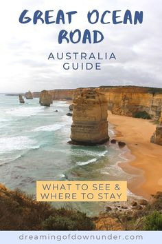 This guide to the beautiful Great Ocean Road Australia will help plan your Great Ocean Road itinerary on a road trip from Melbourne or Adelaide. Discover the top attractions such as 12 Apostles in Victoria. #traveldestinations #australia #greatoceanroad #roadtrip Moving To Australia, Australia Living, Australia Travel, Melbourne Coffee, Stuff To Do, Things To Do, Melbourne Street, Melbourne Victoria, Melbourne Australia