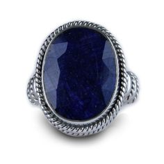 Balinesia Artisan Crafted Sterling Silver 10 Carat Sapphire Ring or $89 at Wares the More.