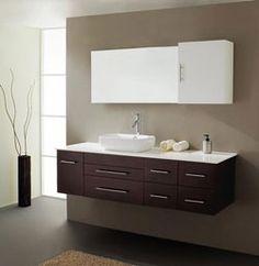 """59"""" Virtu Justine UM-3050-ES bathroom vanity #BathroomRemodel #BlondyBathHome #BathroomVanity  #ModernVanity"""