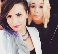 Demi Lovato - Demi Lovato loves changing up her hair. This ombré from purple to silver was one of our favorites from the singer.