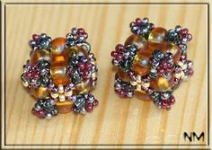 Pattern bijoux: Braided cube beads