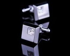 Luxusná kravatová súprava s bielymi kryštálmi (4)