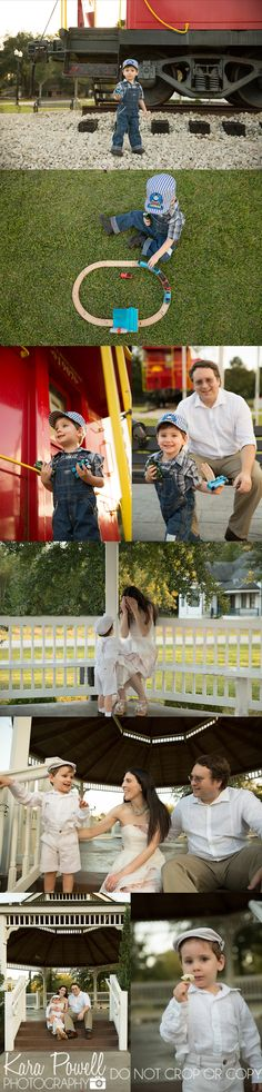 Houston TX family photographed at the Tomball Train Depot by Kara Powell Photography
