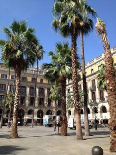 Plaça Reial à Barcelona, Cataluña