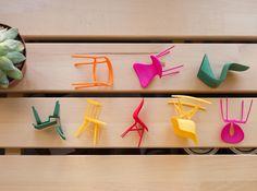 Designer Chair Set of 8 3d printed