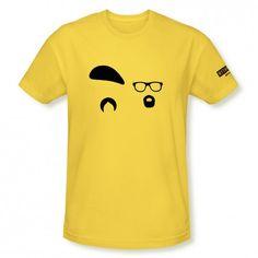 MythBusters Jamie & Adam Silhouette T-Shirt - Yellow