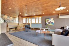 """Midcentury masterpiece 1955 time capsule """"tile house"""" in Minneapolis - every room full of exquisite tile designs - 69 photos - Retro Renovation"""