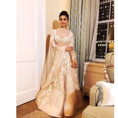Alia Bhatt in beautiful Manish Malhotra lehenga for IIFA 2017 Indian Lehenga, Lehenga Choli, Alia Bhatt Lehenga, Anarkali, Sarees, Lehenga Designs, Indian Attire, Indian Ethnic Wear, Ethnic Style