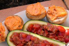 Rezept gesucht, Rezeptkompass gefunden ;-): Gefüllte Pilze mit getrockneten Tomaten und Ajvar, vegan