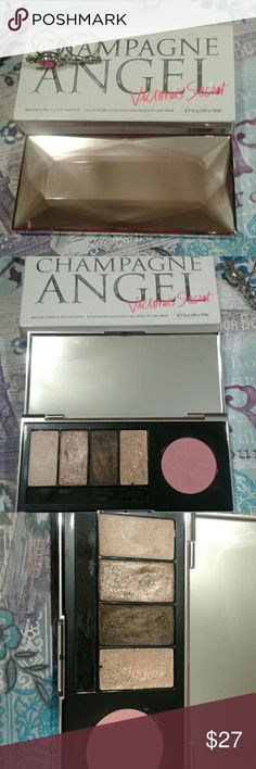 Stunning champagne Angel pallet by vs Create  beautiful sexy stunning looks just like VS models  one blush four champagne eye colors one cream nior eyeliner what you see is what you get (Tv 60) not to mention the stunning packaging. Victoria's Secret Makeup Eyeshadow
