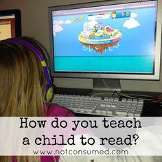 how do you teach a child to read